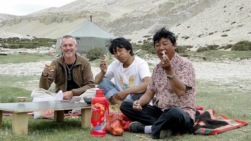 Tsampa pour notre repas et thé au beurre de yak.