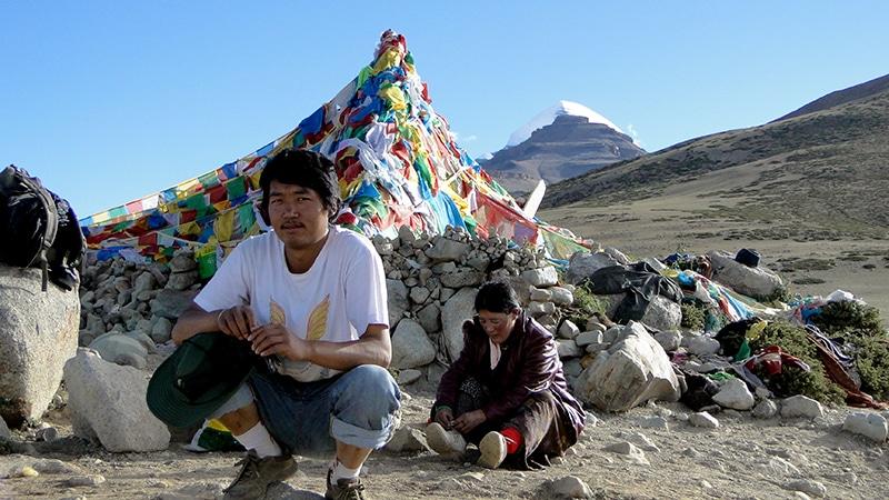 Premier arrêt, le Mont Kailash est en vue.