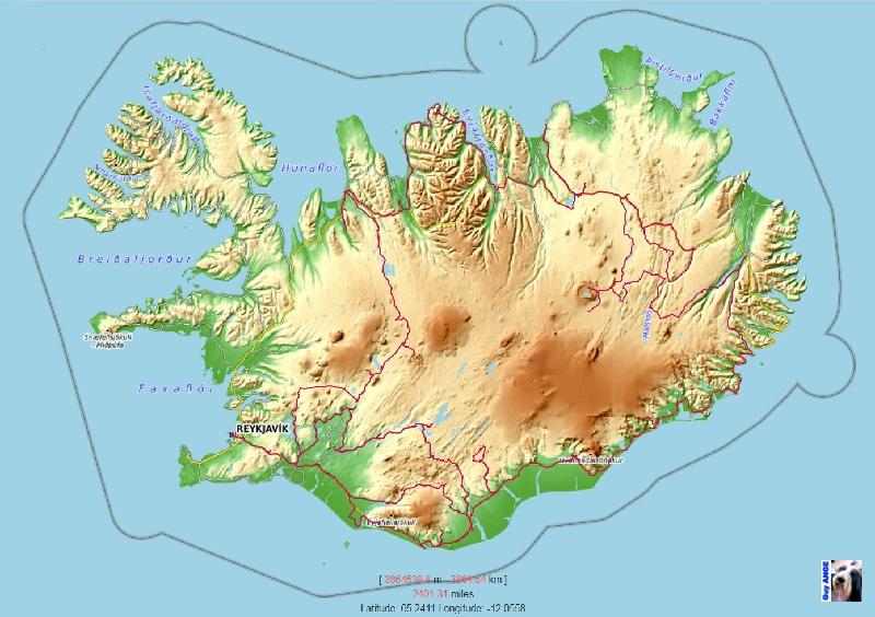 Notre parcours en Islande en juillet 2020.