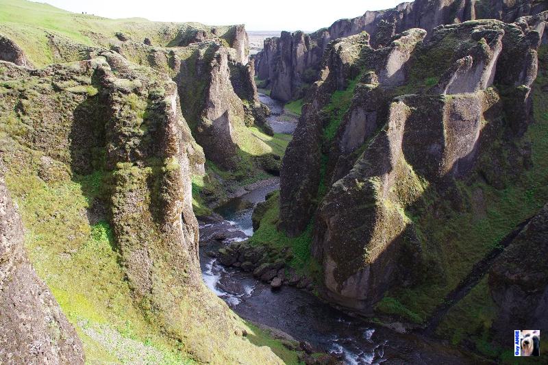 Canyon de Fjdrargljúfur et la rivière Fjdra.