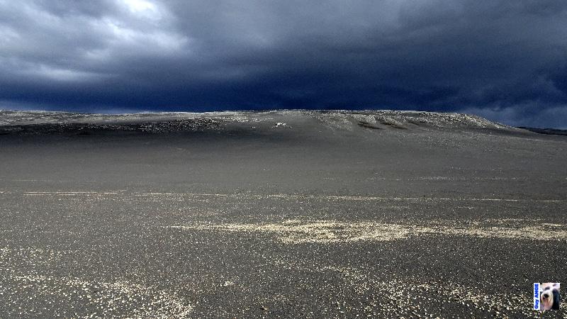 Champs de cendre et de lave du Bárðarbunga au niveau d'Holuhraun.