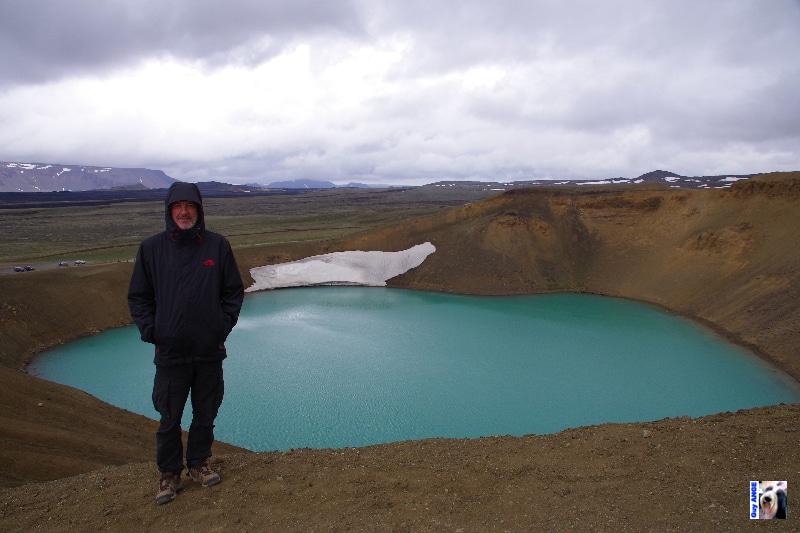 Le cratère Viti à Krafla.
