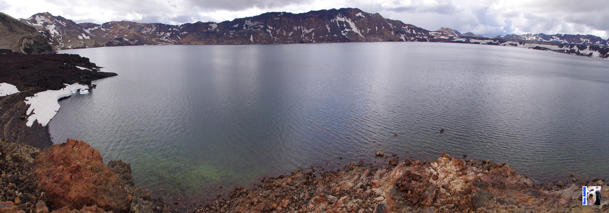 Le lac Öskjuvatna dans la caldeira d'Askja.