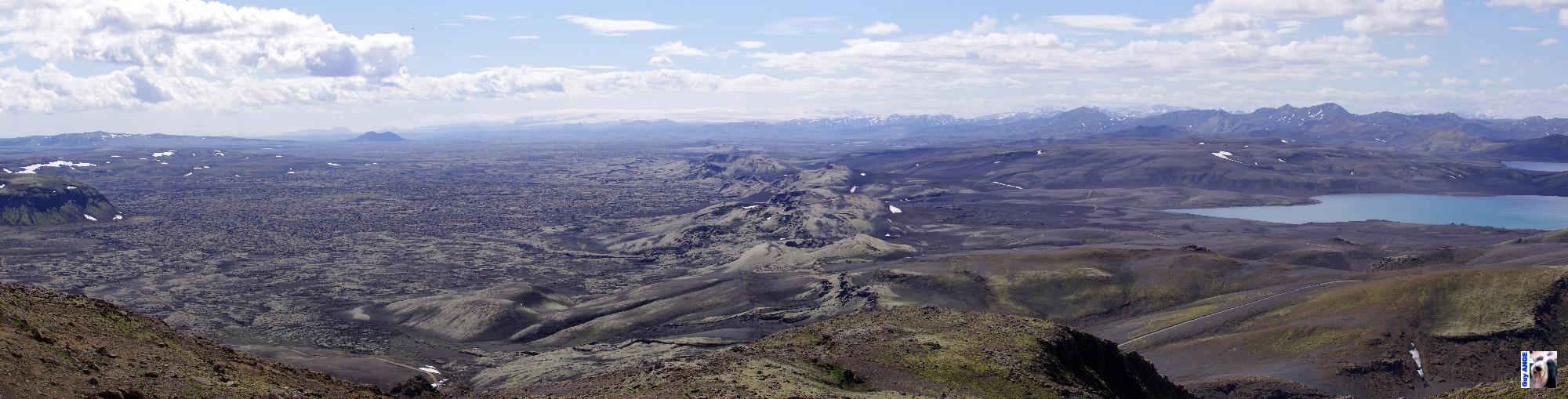 Fissure éruptive du Lakagirar en direction du Myrdalsjokull.