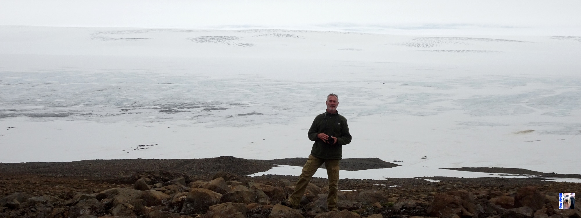 Nous contournons la calotte glaciaire Langjökull