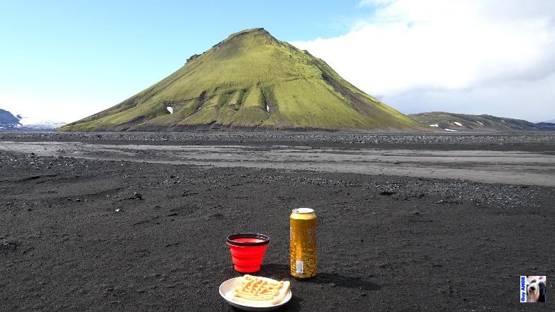 Volcan Mælifell en bordure du Mýrdalsjökull. C'est l'apéro !