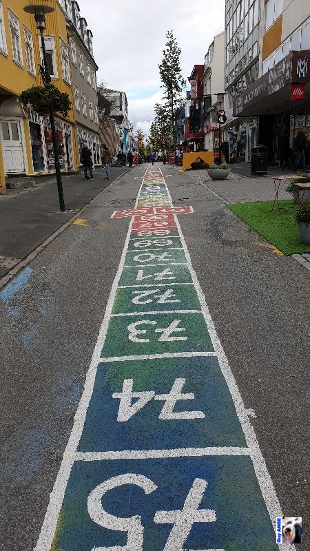 Rue colorée, Reykjavík.