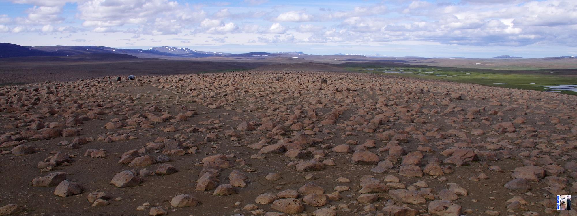 Skessugarður - arrière du rempart de la géante.