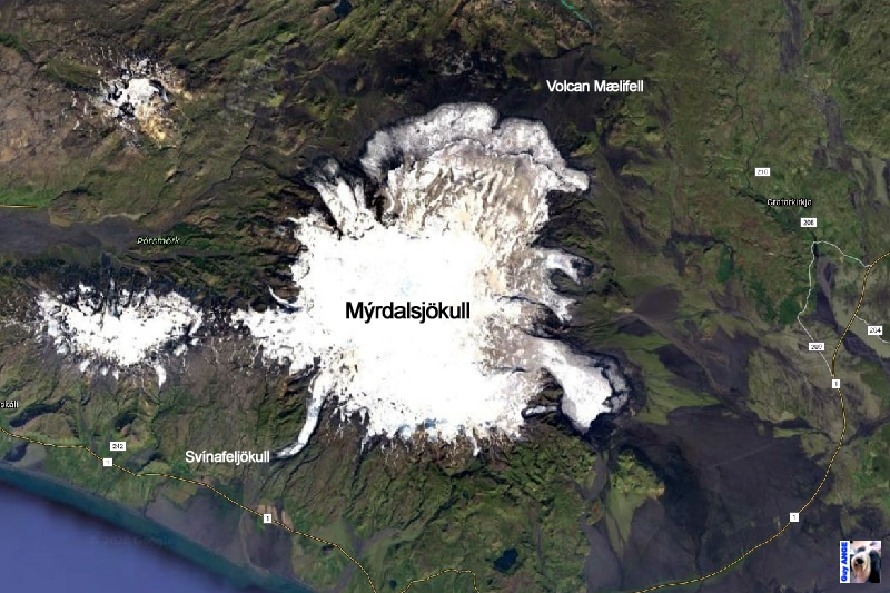Le Mýrdalsjökull.