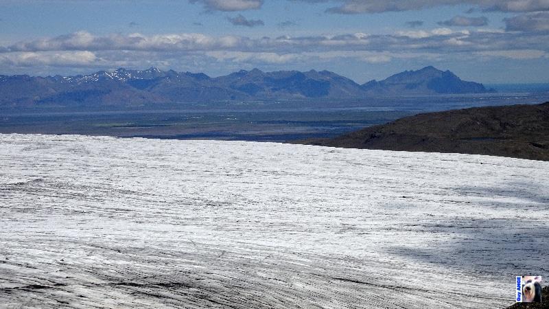 En bordure du Vatnajökull. Vue sur la plaine côtière.