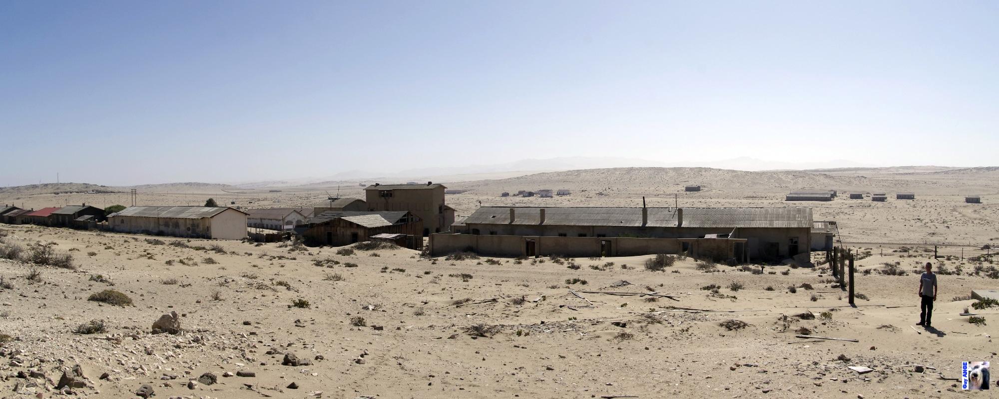 Kolmannskuppe, ville abandonnée en Namibie.