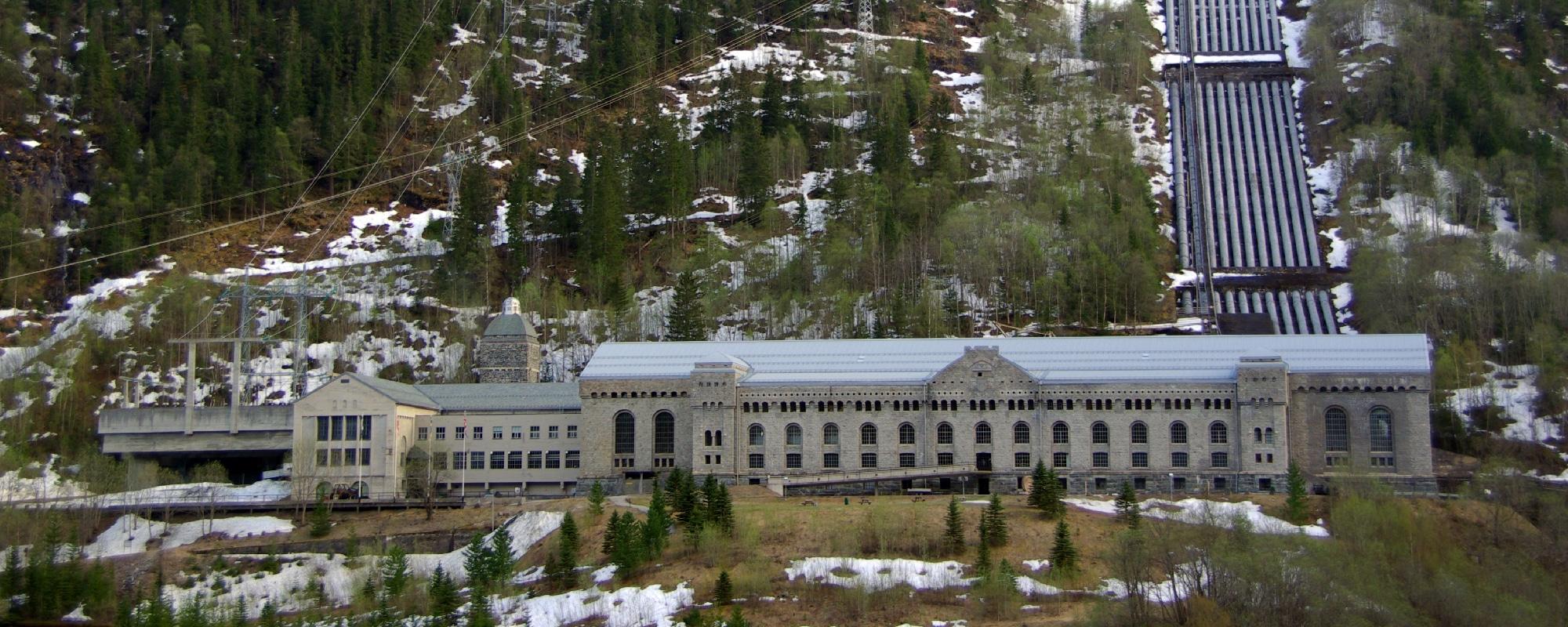 Centrale hydroélectrique de Vemork.