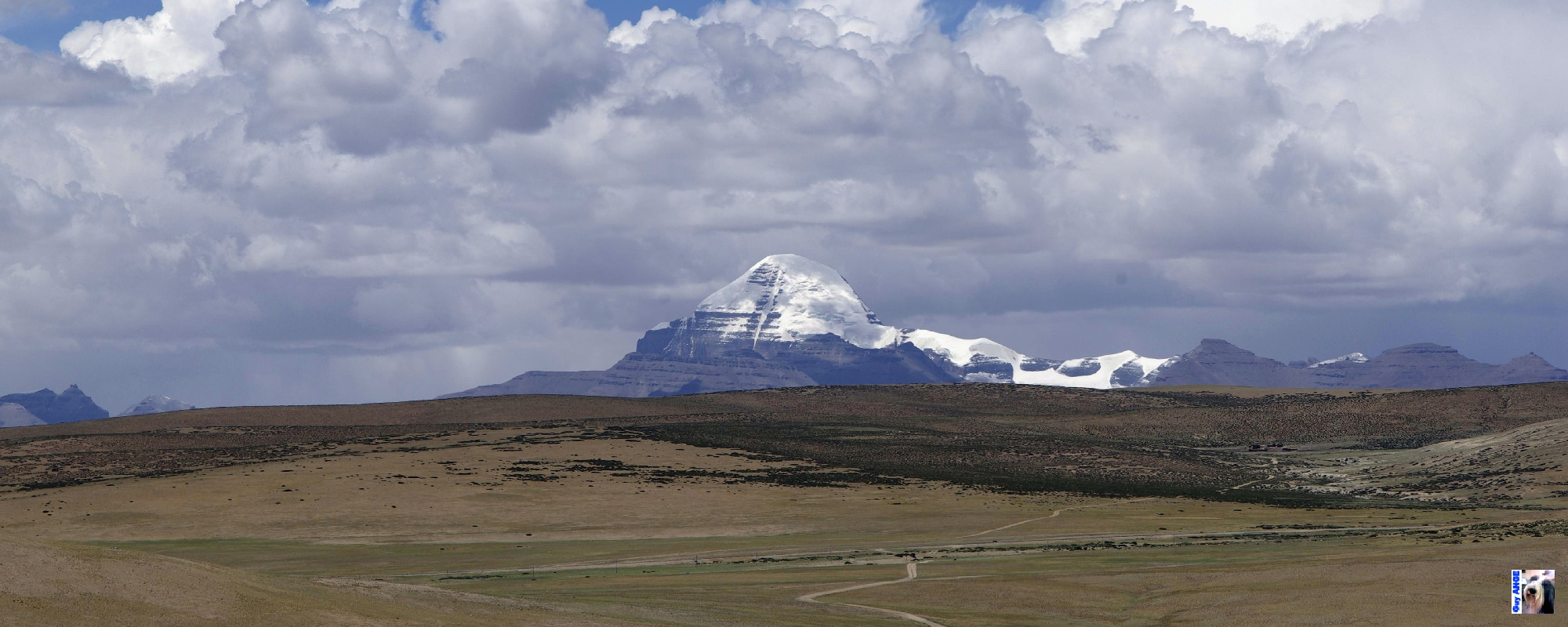 Le Mont sacré du Kailash au Tibet.