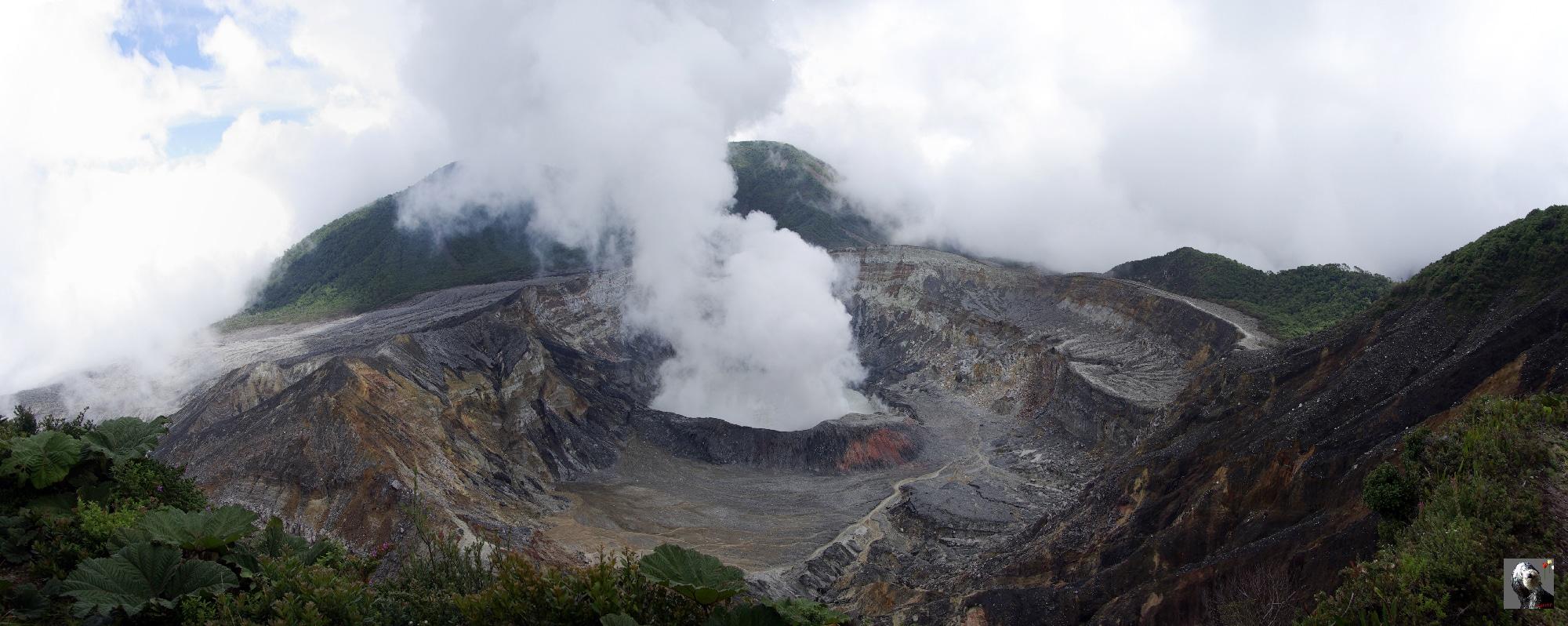 Costa Rica, le volcan Poas.