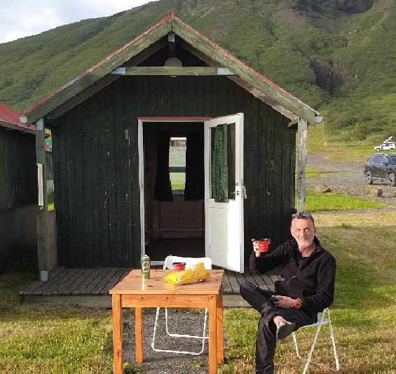 Notre cabane à Skaftafell.